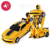 Автобот трансформер Бамблби с пультом управления и аксессуарами