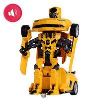 Радиоуправляемый робот-трансформер автобот Бамблби (металлический)
