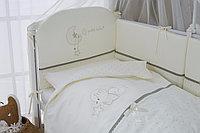 Постельное белье Perina Le Petit Bebe Молочно-оливковый 6 предметов