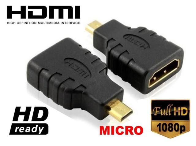 Переходник HDMI F/MICRO HDMI; HDMI мама - MICRO HDMI папа