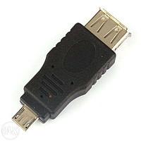 Переходник USB AF (мама) - micro USB (папа)