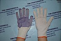 Перчатки  хб с ПВХ точками, фото 1