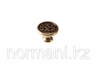 "Мебельная ручка кнопка, замак, цвет бронза ""Валенсия"""