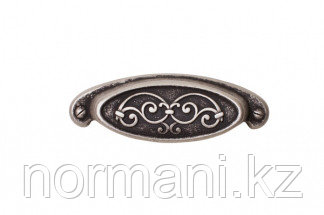 Мебельная ручка для кухни 64 серебро старое