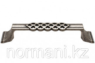 Мебельная ручка для кухни 128 серебро старое