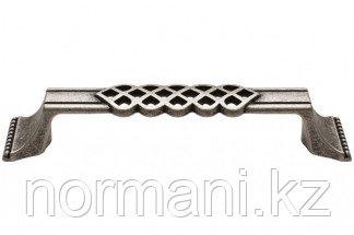 Мебельная ручка, замак, размер посадки 128 мм, цвет серебро старое