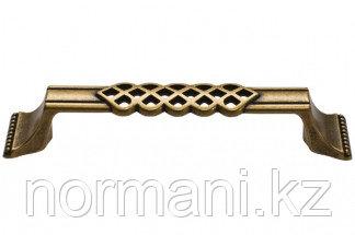 """Мебельная ручка, замак, размер посадки 128 мм, цвет бронза """"Флоренция"""""""