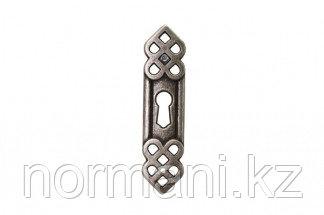 Накладка вертикальная под ключ,отделка серебро старое