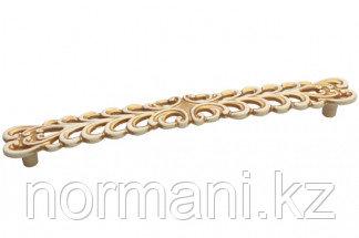 Мебельная ручка, замак, размер посадки 192 мм, цвет золото винтаж