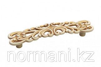 Мебельная ручка, замак, размер посадки 96 мм, цвет золото винтаж