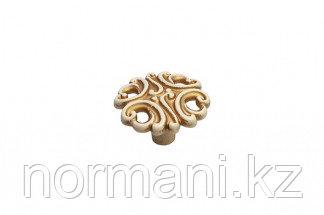 Мебельная ручка кнопка, замак, цвет золото винтаж