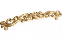 """Мебельная ручка, замак, размер посадки 128 мм, цвет золото матовое """"Милан"""""""