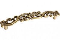 "Мебельная ручка, замак, размер посадки 128 мм, цвет бронза античная ""Флоренция"""