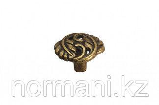 """Мебельная ручка кнопка, замак, отделка бронза античная """"Флоренция"""""""