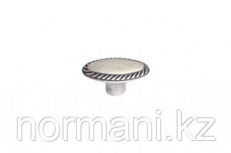 Мебельная ручка кнопка, замак, цвет серебро античное