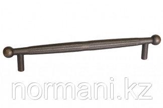 Мебельная ручка, замак, размер посадки 160мм, отделка бронза античная темная