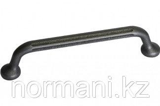 Мебельная ручка, замак, размер посадки 128мм, отделка железо античное