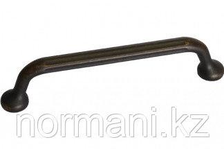 Мебельная ручка, замак, размер посадки 128мм, отделка бронза античная темная