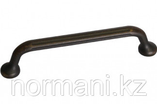 Ручка-скоба 128мм, отделка бронза античная темная