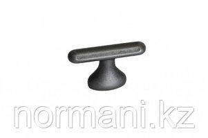 Ручка кнопка, замак, размер посадки 16мм, отделка железо античное