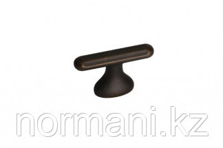 Ручка-кнопка, замак, размер посадки 16мм, отделка бронза античная темная