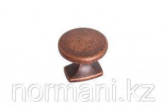 Ручка-кнопка, отделка медь античная
