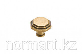 Мебельная ручка кнопка, цвет бронза античная французская