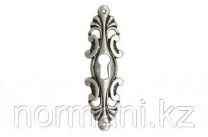 Накладка вертикальная под ключ, отделка старое серебро с блеском