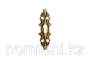 """Накладка вертикальная под ключ,                    отделка бронза античная """"Флоренция"""""""