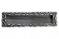 Мебельная ручка, замак, размер посадки 128мм, отделка старое серебро с блеском