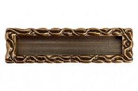 """Мебельная ручка, замак, размер посадки 128мм, отделка бронза """"Орваль"""""""