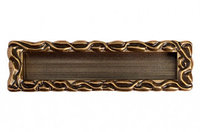 """Ручка врезная 128мм, отделка бронза """"Орваль"""""""