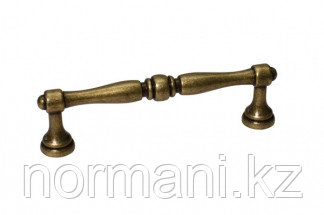"Мебельная ручка, замак, размер посадки 96 мм, цвет бронза античная ""Флоренция"""