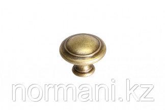 """Мебельная ручка кнопка, замак, цвет бронза античная """"Флоренция"""""""