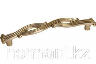 Мебельная ручка, замак, размер посадки 128 мм, цвет золото темное металлик