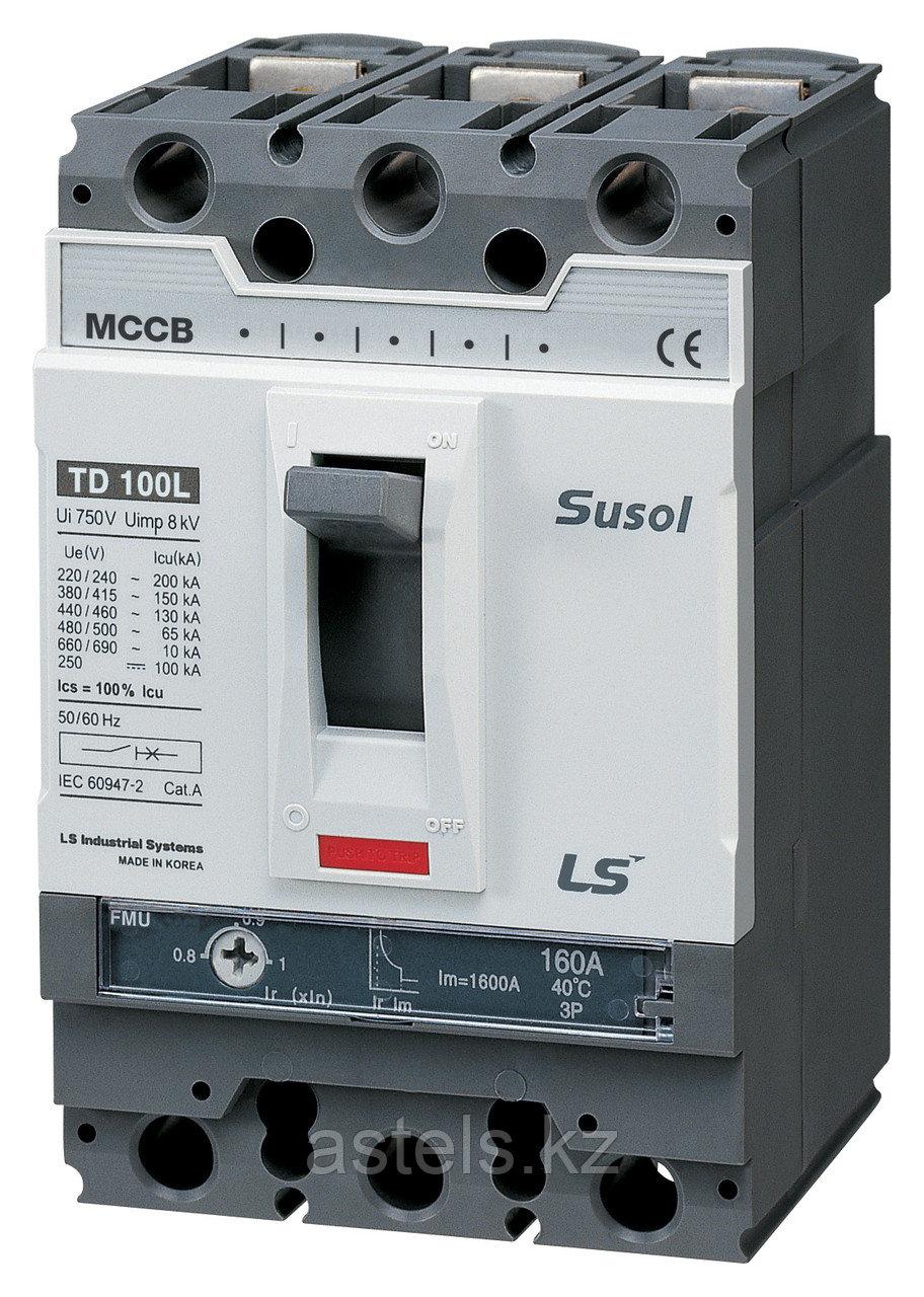 Автоматический выключатель TD160N FMU160 160A 3P EXP