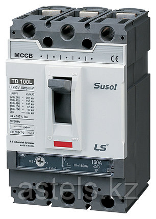 Автоматический выключатель TD160N FMU160 100A 3P EXP, фото 2