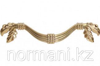 Мебельная ручка, замак, размер посадки 96 мм, цвет золото темное металлик