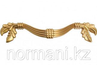 """Мебельная ручка, замак, размер посадки 96 мм, цвет золото матовое """"Милан"""""""