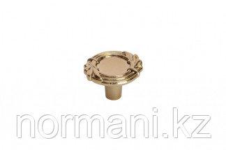 Мебельная ручка кнопка, замак, цвет золото темное металлик