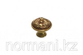 Мебельная ручка скоба, замак, цвет бронза с красной патиной