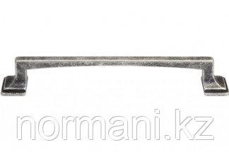 Мебельная ручка, замак, размер посадки 128 мм, цвет серебро античное
