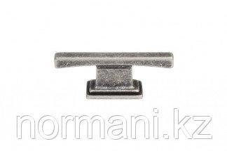 Мебельная кнопка, замак, размер посадки 16 мм, цвет серебро античное