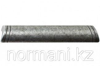 Мебельная ручка, замак, размер посадки 128-96 мм, цвет железо античное чёрное
