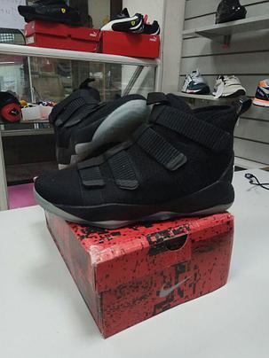 Баскетбольные кроссовки Nike Lebron James XI (11) Zoom Soldier Black, фото 2