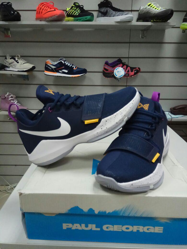 Баскетбольные кроссовки Nike PG1 from Paul George синие