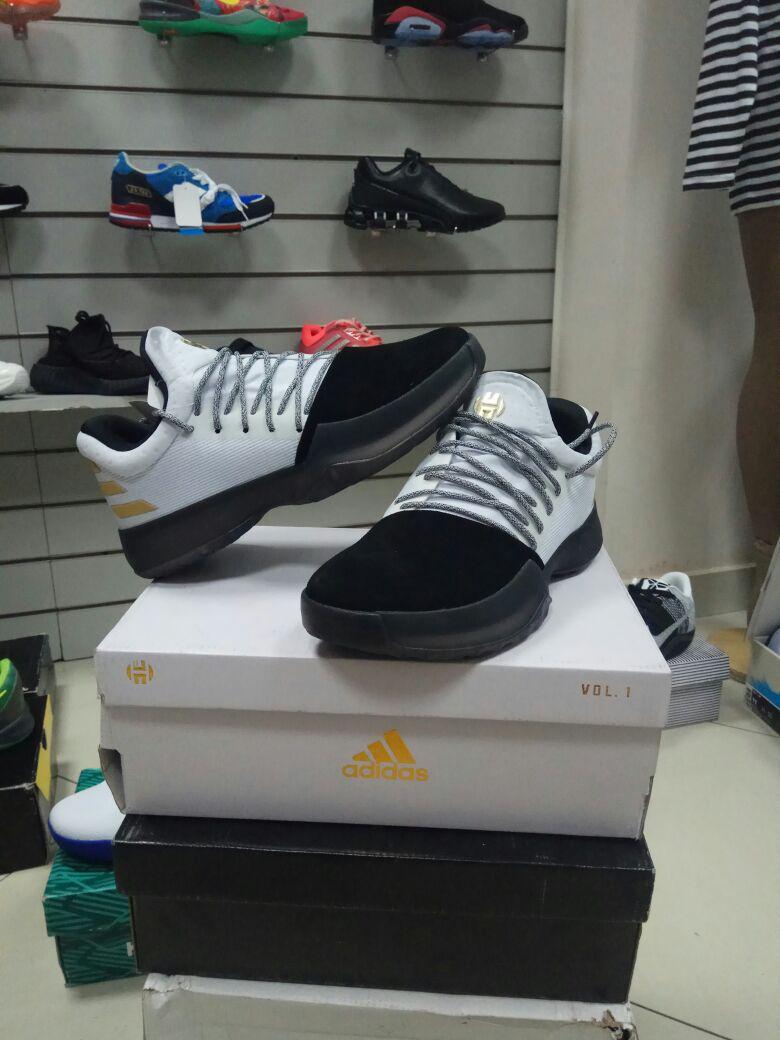 Баскетбольные кроссовки Adidas Harden Vol.1 from James Harden черно-белые