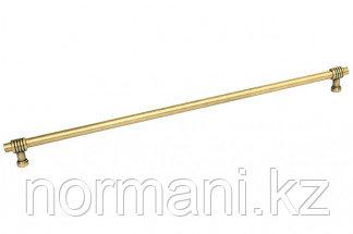 Ручка-скоба 384мм, отделка темное золото