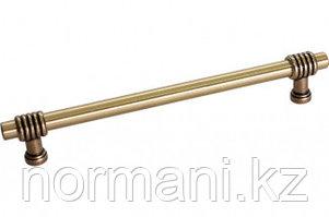 Ручка-скоба 224 мм, отделка золото