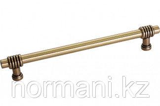 Мебельная ручка, замак, размер посадки 192 мм, отделка золото темное